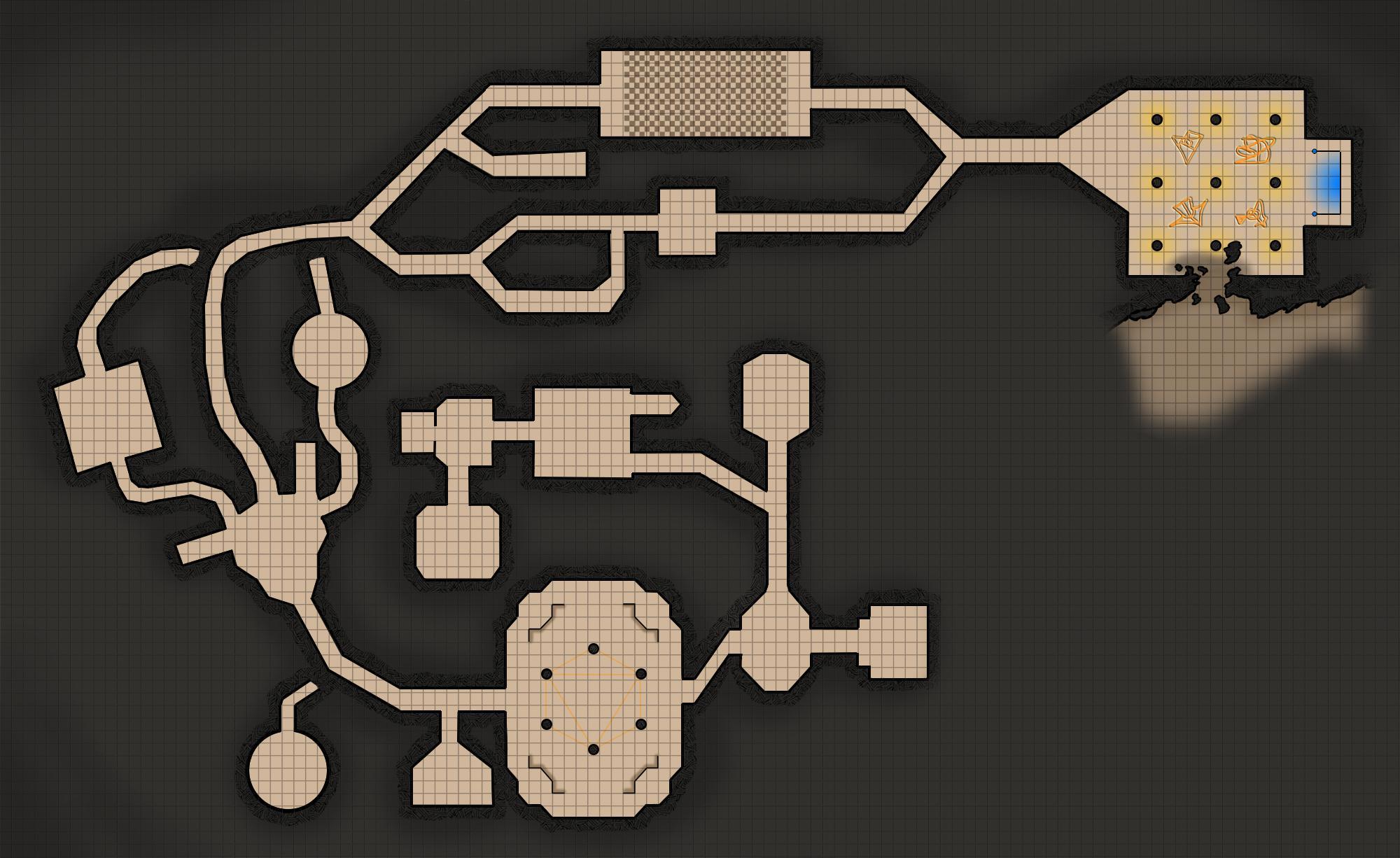 Die komplette Karte des Tempels