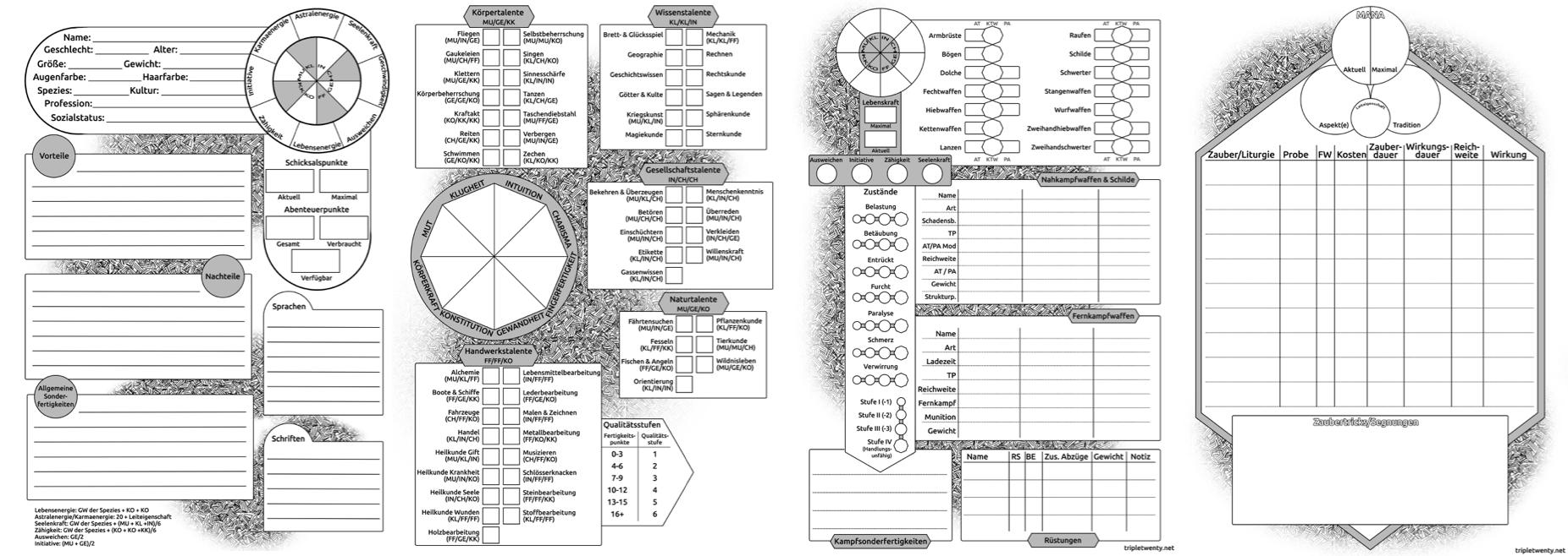 dsa charakterbogen 4.1 pdf