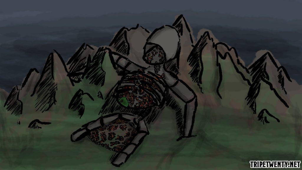 Darstellung der Stadt des Riesen